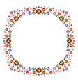 Folk Pattern Flowers-h vector image