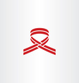 stylized cancer ribbon red logo icon vector image