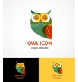 Owl outline icon and symbol vector image vector image