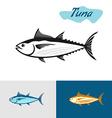 Tuna black silhouette Simple of a tuna fish vector image