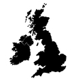 map britain vector image