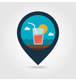 Cocktail pin map icon Summer Vacation vector image