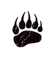 a trace a bear black silhouette of paw vector image