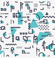 abstract shapes background vector image