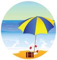 beach paradise with umbrella vector image