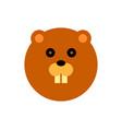 beaver cartoon animal head vector image