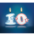 Birthday candle number 10 vector image