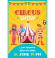 Circus Show Colorful Poster vector image