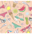 Cute summer abstract seamless pattern vector image