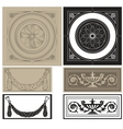 decorative pane set vector image