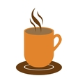 mug with hot beverage icon image vector image