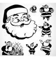 Retro santa ornaments vector image