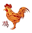 Rooster as animal symbol of Chinese zodiac vector image