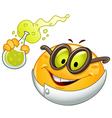 scientist emoticon vector image