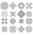 set of different icon guilloche rosettes vector image