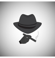 Silhouette of a man in a hat vector image