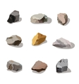 Rocks and stones mountain set Rock and stone vector image