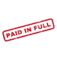 Paid In Full Rubber Stamp vector image