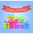 Gift boxes for holiday Colorful box vector image
