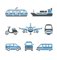 Transport Icons - A set of ninth vector image vector image
