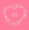 minimalist floral background heart frame vector image
