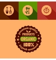 flat organic products design elements vector image