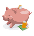 savings graphic vector image