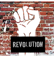 fist sign on brick wall vector image