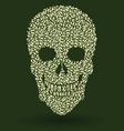 Leaf Skull Pattern vector image vector image