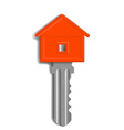 key to the lock in the form of house isolated on vector image vector image