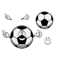 Football or soccer ball sporting mascot cartoon vector image vector image