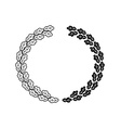 Oak wreath black isolated on a white background vector image vector image