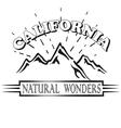 California republic retro emblem vector image