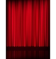 Red curtain background template EPS 10 vector image vector image
