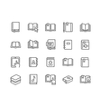 Line Book Icons vector image