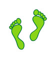 foot prints sign lemon scribble icon on vector image