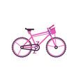 pink city bike modern bicycle vector image