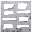 Rough stickers on the grunge wall vector image