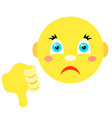 smiley with thumb thumb down vector image