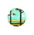 summer landscape background for the app icon vector image