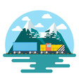 Transport flat Background Perfect flat Train vector image