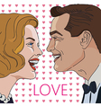Greeting card for Valentine Day with couple vector image