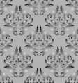 seamless background gray and black vector image vector image