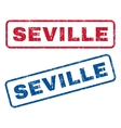Seville Rubber Stamps vector image