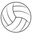 ball for playing beach volleyball vector image