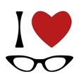 I love glasses print vector image