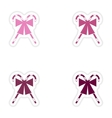 Set of paper stickers on white background candy vector image