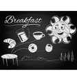 sun enjoys a new morning and breakfast vector image