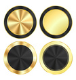 set bright glossy gold with a black background of vector image