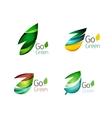 Set of leaf logos vector image vector image
